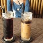 Ca Phe da + Ca Phe Sua da, je to, co jsme si v kavárně nejčastěji objednávali