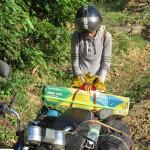 Tonka po cestě viděla v prachu ležet nějakou vietnamskou hvězdu. Tak jsme jí vzali s sebou
