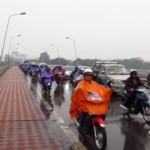 Takhle v Hue pršelo asi hodinu před tím, než jsme z něj vyrazili pryč