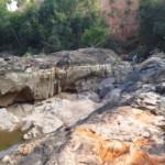 vodopád v období sucha