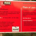 Další informační cedule o odminované části Planiny džánů