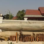 Zneškodněná munice a palivové nádrže
