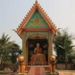 Buddha a jeho dva strážní lvi