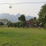 Výhled od bungalovů