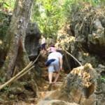 Schody do jeskyně