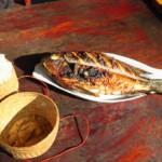 Sladkovodní ryba se sticky rice