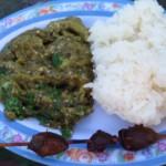 Dušený lilek s paprikou a rýží