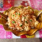 Smažená rýže s vejcem a zeleninou