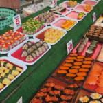 Sushi (jeden kousek za 3,5,- kč)