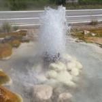 Horký pramen, cca 100°C